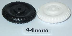 "44mm (1 3/4"") plastic old style wheel"