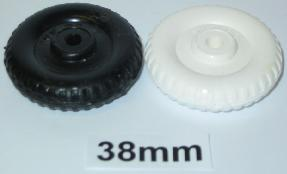 "38mm (1 1/2"") plastic old style wheel"