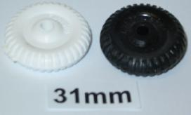 "31mm (1 1/4"") plastic old style wheel"